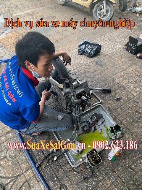 Sửa xe tay ga SYM Attila Elizabeth chuyên nghiệp tại Tp.HCM