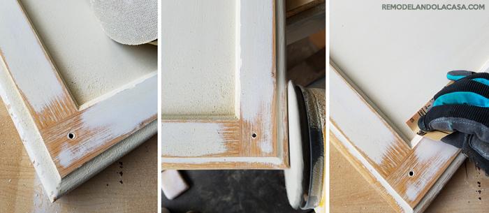 oak cabinets repainted.