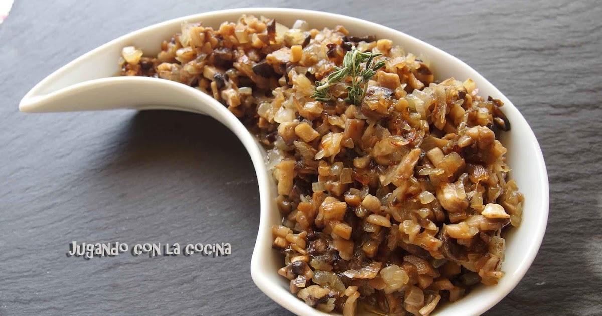 Jugando con la cocina salsa duxelle cl sica for La cocina francesa clasica