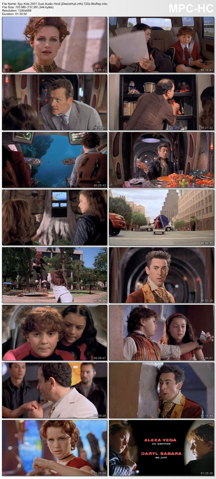 Spy Kids 2001 Dual Audio Hindi 720p BluRay 700MB Desirehub