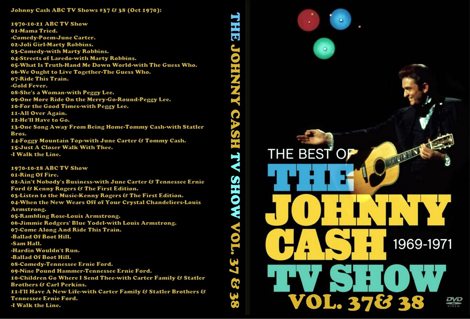 Peter C\'s Music TV & Video Archives: JOHNNY CASH on DVD