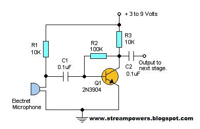 Audio Pre-Amplifier Circuit Diagram