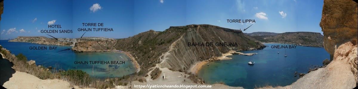 TUFFIEHA BEACH-GNEJNA BAY-GOLDEN BAY-PLAYAS DE MALTA
