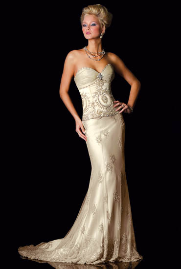 Wedding Lady Gold Bridal Gown Collection