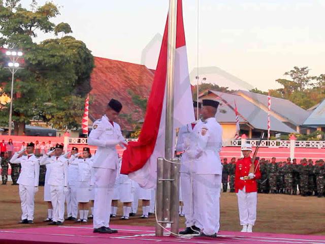 Upacara Penurunan Bendera Merah Putih di MTB