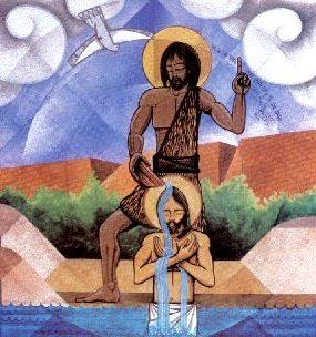 Imagen del Bautismo de Jesús para niños