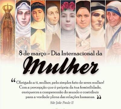 Feliz dia das mulheres!