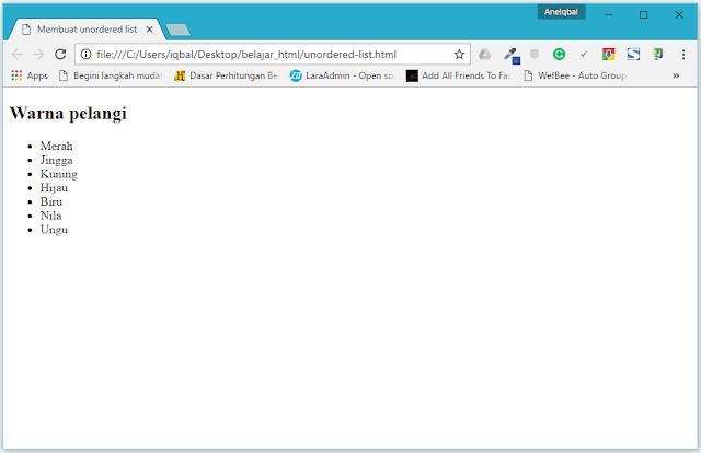 tutorial html untuk pemula
