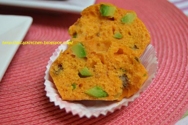 MUFFINS (Y cupcakes) SALADOS DE PIQUILLO CON AGUACATE Y ANCHOA