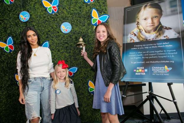 Kim Kardashian Visits Children's Hospital LA to Kick Off Make March Matter Campaign