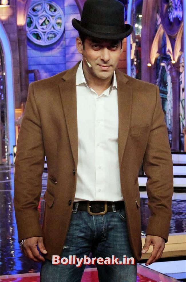 Salman Khan, Madhuri Dixit Huma Quershi promote Dedh Ishqiya on Bigg Boss 7