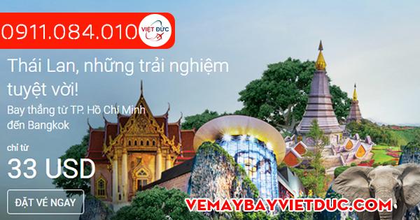 Air Asia khuyến mãi vé đi Thái Lan giá từ 33 usd