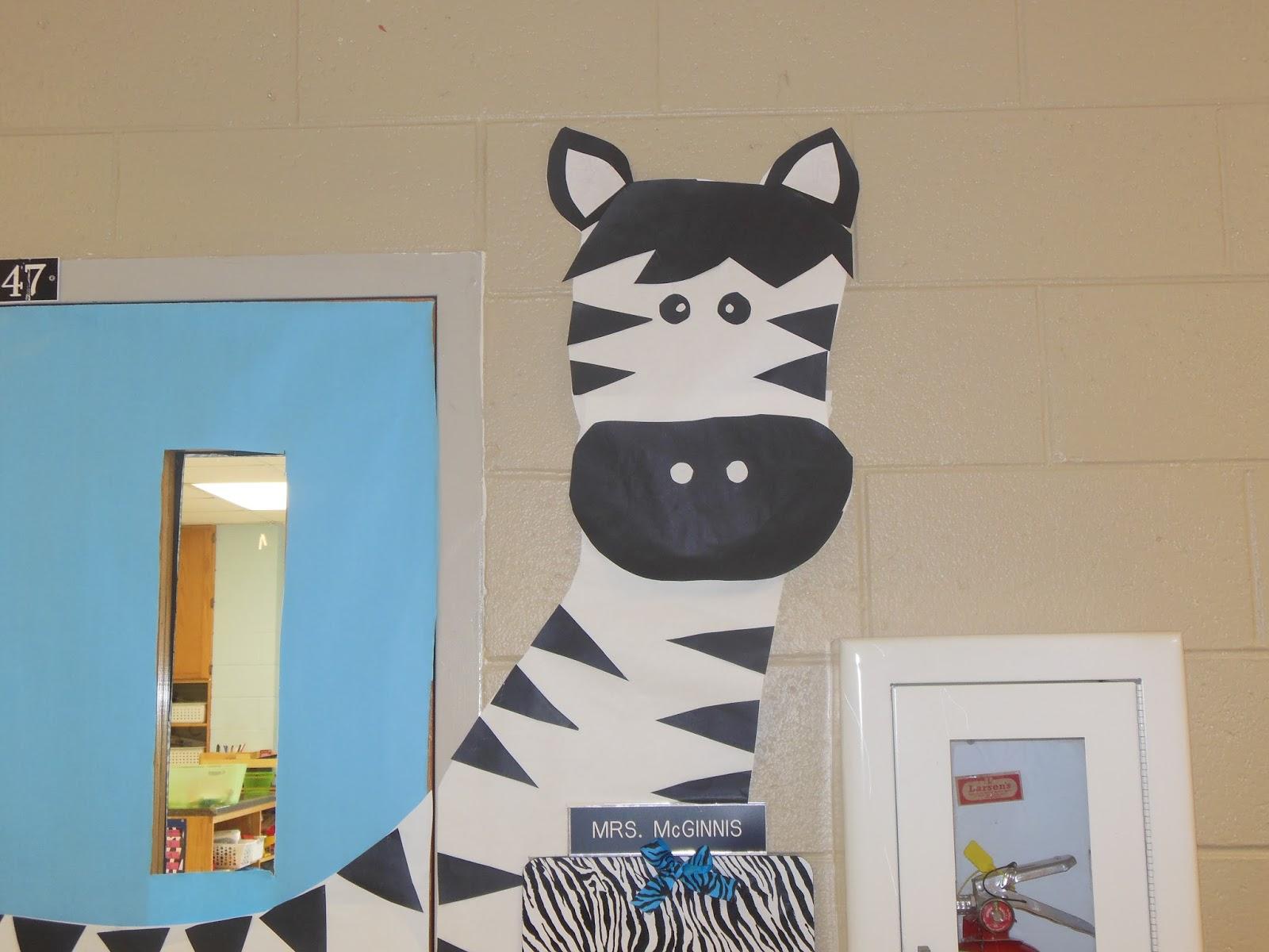 My Zebra Jungle Decorations  Mrs McGinnis Little Zizzers