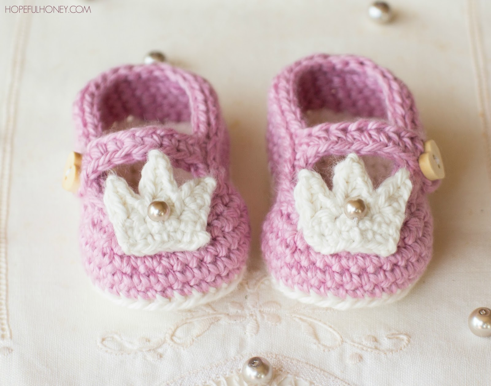 Free Crochet Pattern Baby Lion Booties : Hopeful Honey Craft, Crochet, Create: Princess Charlotte ...
