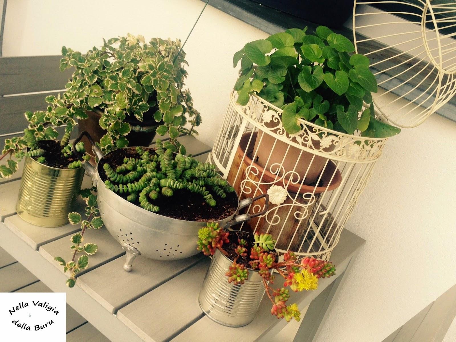 Nella valigia della buru giardino e balcone realizzare for Arredare con riciclo fai da te
