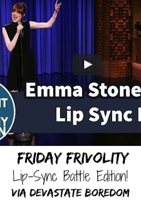 #FridayFrivolity - Lip-Sync Battle Edition! Emma Stone, The Rock, Tom Cruise and Ariana Grande - videos to make you laugh and sing along! via Devastate Boredom