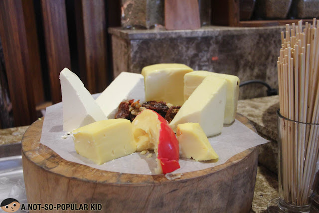 Cheese selection buffet