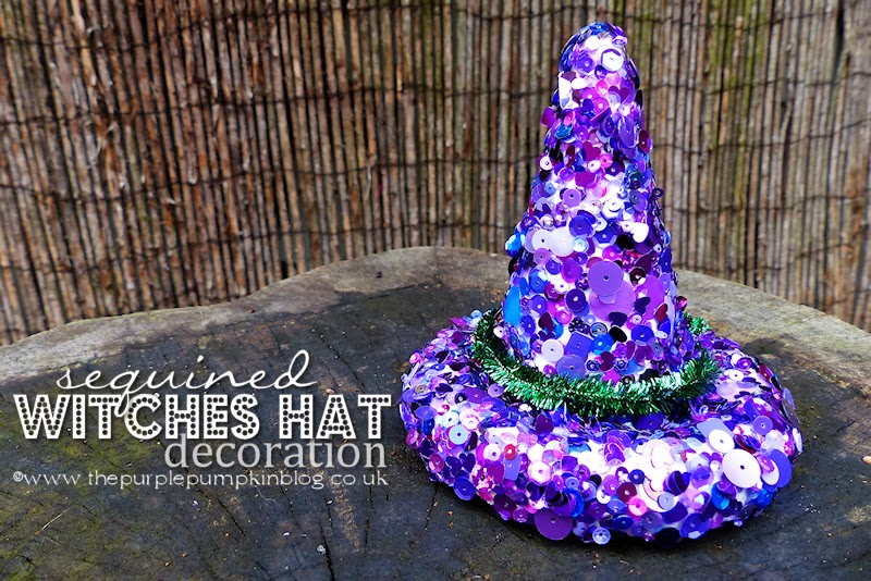 & Sequined Witches Hat Decoration