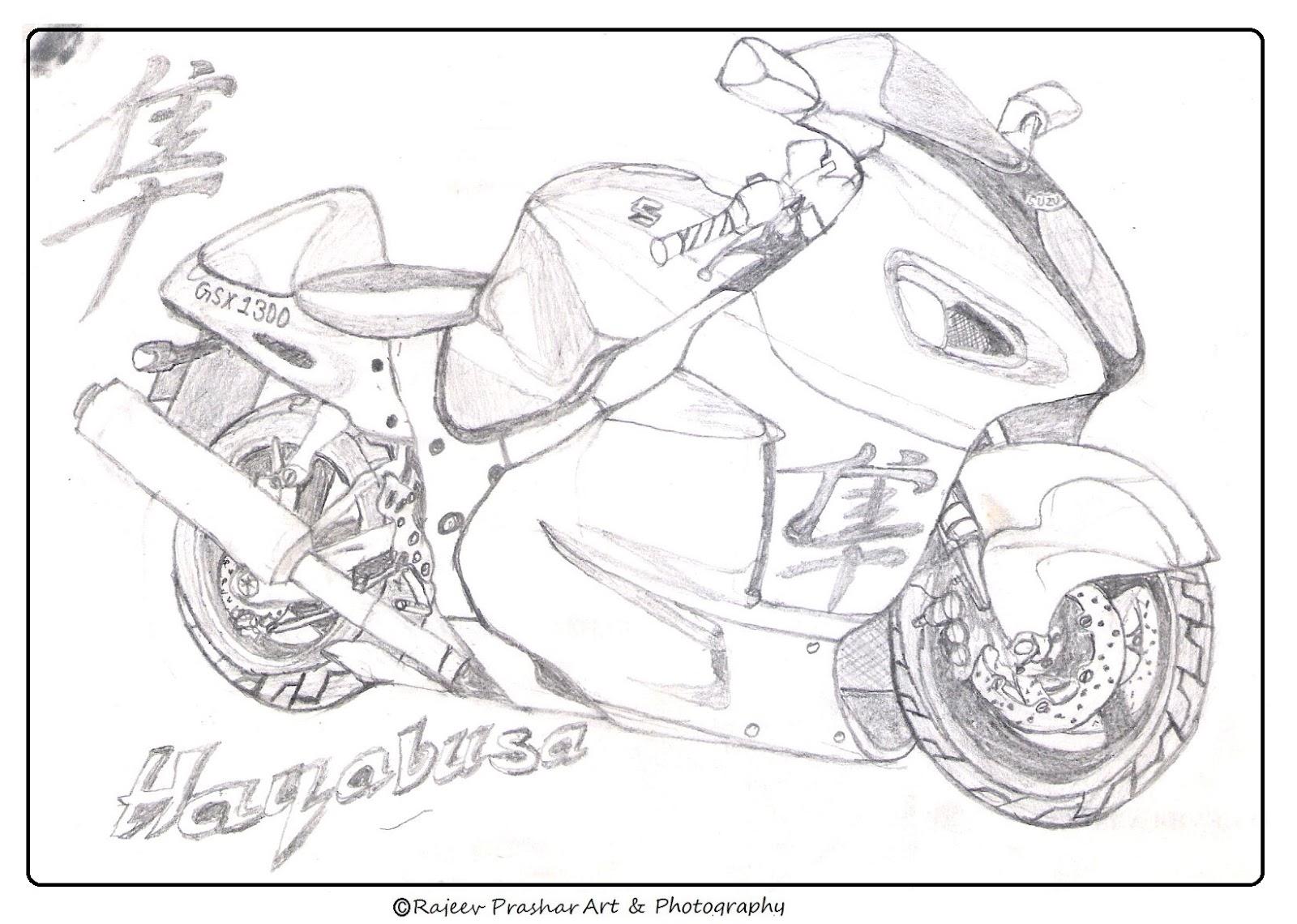 Rajeev Prashar's Art: Suzuki Hayabusa