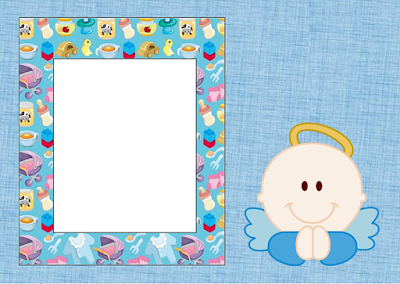 Angel Boy: Free Printable Invitations, Labels or Cards.