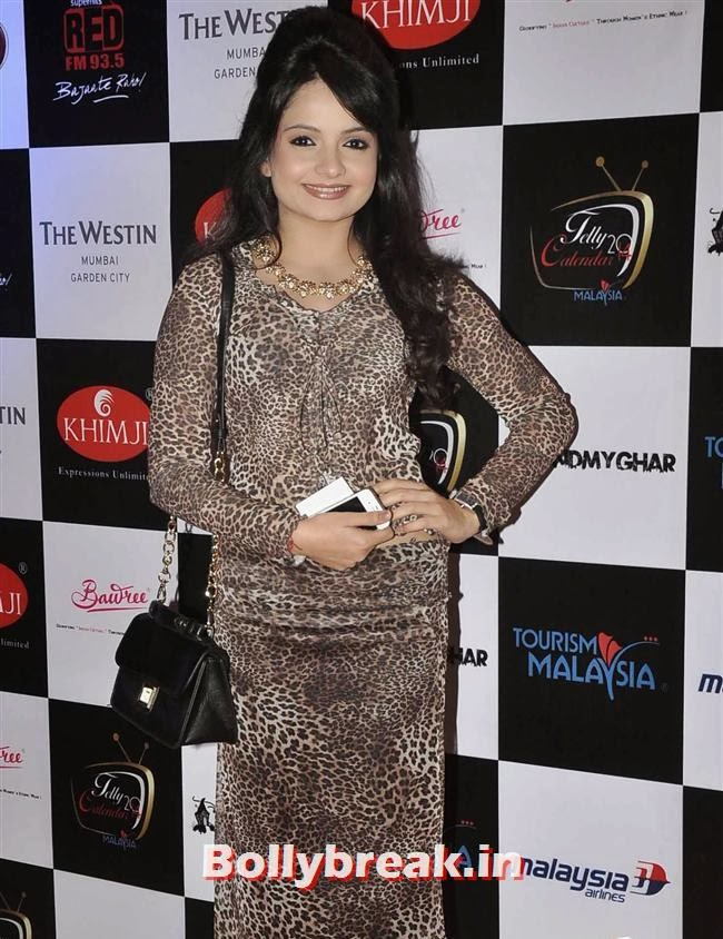 Giaa Manek, Tv babes at Telly Calendar 2014 Launch