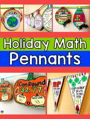 Holiday Math Pennants