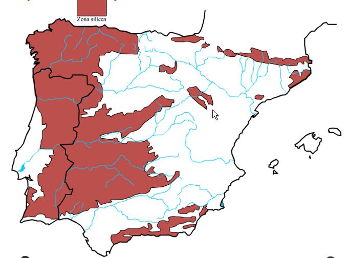 Resultado de imagen de relieve Iberia silicica