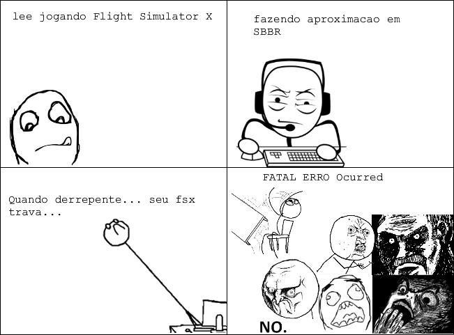 Canto dos Aviadores Virtuais: Aproximação no FSX