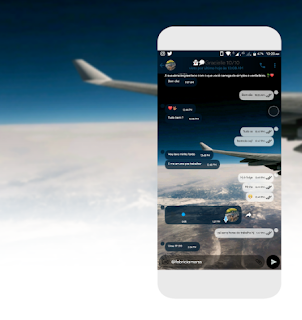 Airplane in Space Theme For GBWhatsApp By PFM