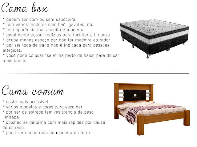 vantagens cama box e comum