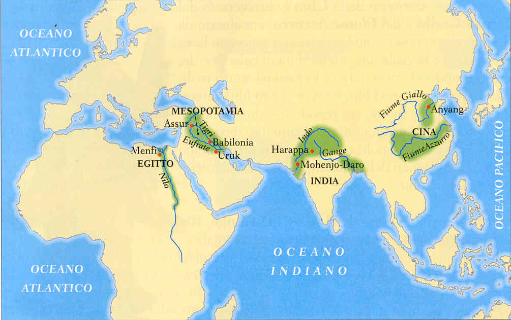 Cartina 5d.5d Le Civilta Fluviali
