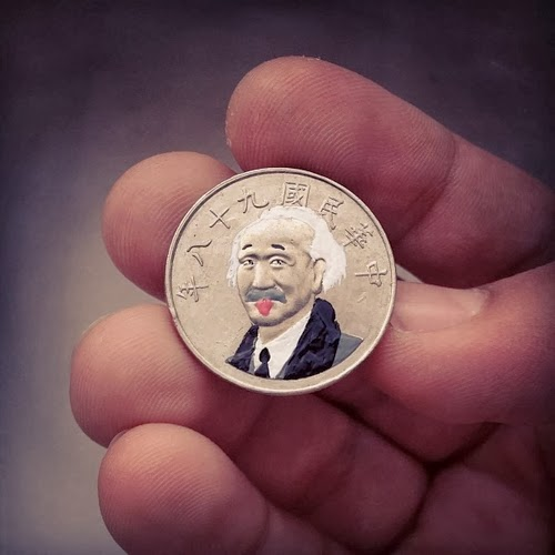 03-Albert-Einstein-E=Mc2-Portrait-Coins-Andre-Levy-aka-@zhion-Brazilian-Designer-Tales-You-Lose-www-designstack-co