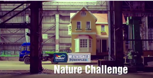 Picture from the new Dulux Weathershield Powerflexx Nature Challenge TVC - Tv Commercial