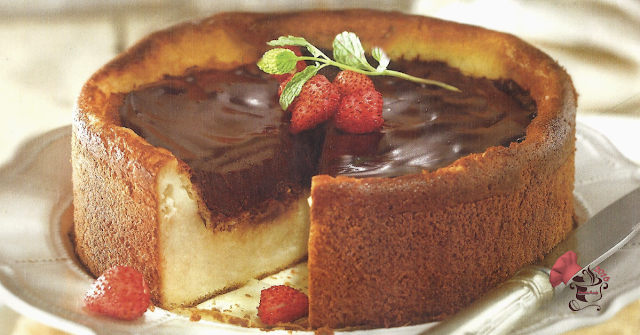 Tarta de queso con  chocolate