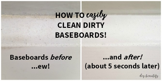 The Easy Way to Clean Dirty Baseboards | DIY beautify