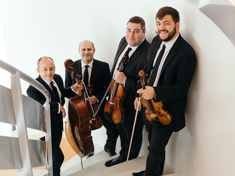 IN PERFORMANCE: Amernet String Quartet, Mozart interpreters at Elon University on 14 March 2019 [Photograph © by Amernet String Quartet]