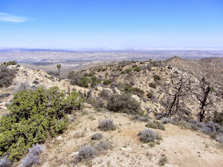 View north from Warren Point (5103') in Joshua Tree National Park toward the City of Yucca Valley