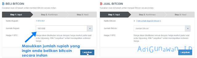 Jual / Beli Bitcoin Instan Indodax.com