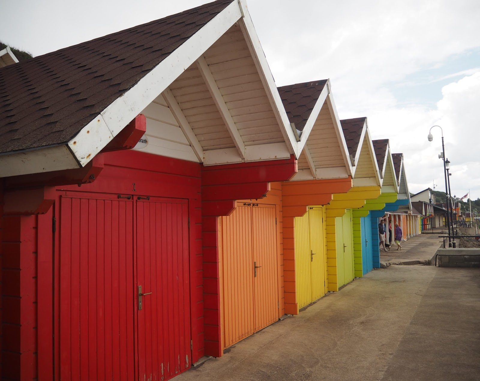 Bright beach huts North Bay, Scarborough