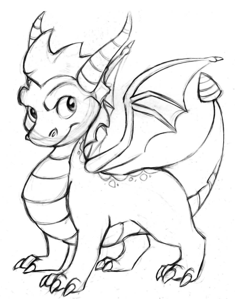 Free coloring pages of dark spyro