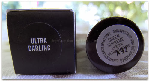 MAC COSMETICS Sheen Supreme Lipstick Ultra Darling