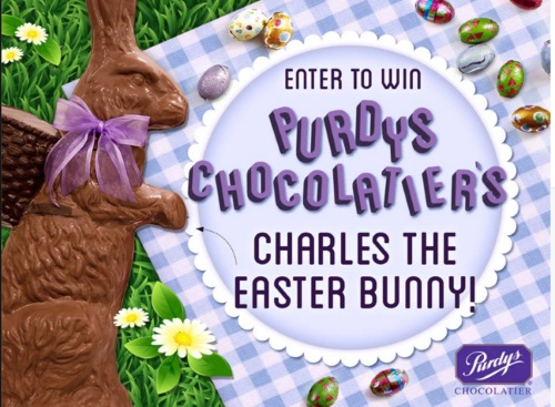 Purdy's Chocolatier Charles The Easter Bunny Contest