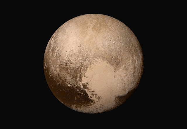 Pluto's heart holds clues about an underwater ocean on the dwarf planet. Credit: NASA/JHUAPL/SwRI.