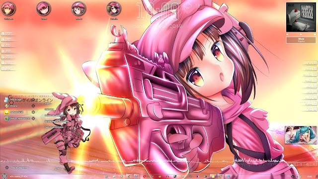 Sword Art Online Alternative: Gun Gale Online Theme Win 7 by Andrea_37