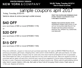 free New York And Company coupons for april 2017