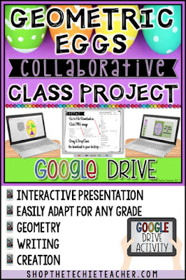 Fun way to use geometry and technology at the same time! Geometric Eggs Collaborative Class Project will have your students creating, writing and practicing academic skills using Google Drive.