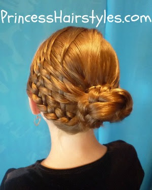 Basket Weave Braid Woven Bun Hairstyle Hairstyles For