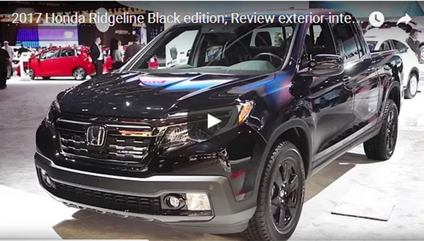 2017 Honda Ridgeline Black Edition Review Exterior Interior