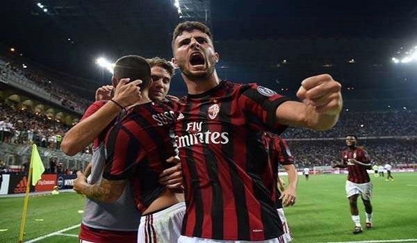 Selebrasi Pemian Milan Saat Menjebol Gawang Udinese