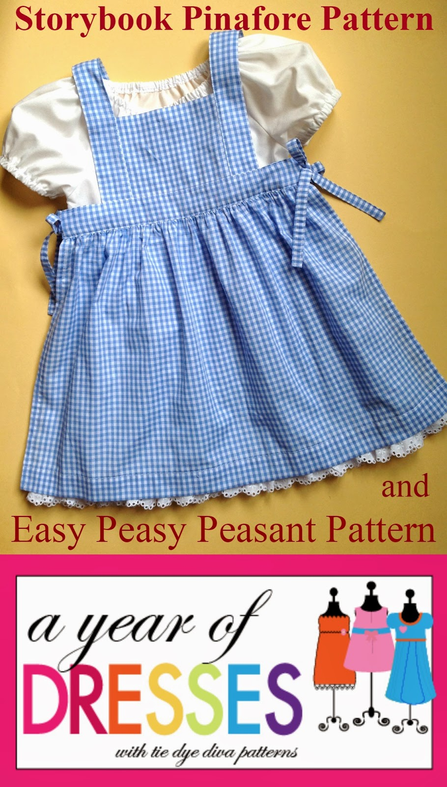 A Year Of Dresses Storybook Pinafore And Easy Peasy